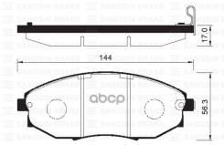 Колодки Тормозные Дисковые, Передние Sangsin brake арт. SP1193