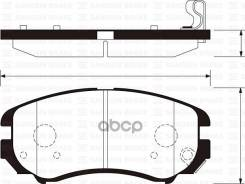 Колодки Тормозные Дисковые, Передние HySonata01-, Tucson04-, Coupe02-, Elantra; KiSportageNew, Optima; Soul 08-; Sangsin brake арт. S...
