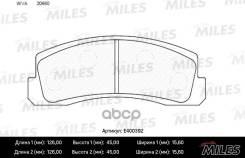 Колодки Тормозные Передние Miles арт. E400392 E400392 Miles E400392