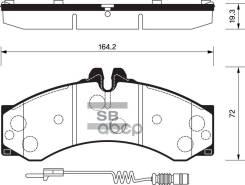 Колодки Дисковые Передние ! Mb Sprinter 408d/410d/412d 96, Vw Lt46 2.3i-2.8tdi 96 Sangsin brake арт. SP1277 Sp1277_