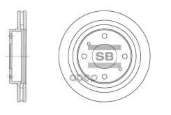 Диск Тормозной Hyundai Sonata (Ef) 2.0-2.5 98-01/Sonata (Nf) 2.4 05- Передний Sangsin brake арт. SD1045
