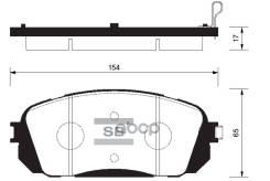 Колодки Дисковые П Kia Gr. Carnival/Sedona 2.7/2.9crdi (Whell Size 17) 05 Sangsin brake арт. SP1191 Sp1191sns_[581014d800] ! SP1191