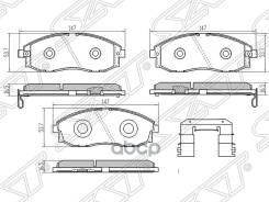 Колодки Тормозные Перед Hyundai H1/Starex 97-06/Porter 96-04 Sat арт. ST-58101-4AA81