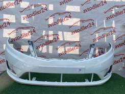 Kia Rio передний бампер 11-15 год белый кия Рио (cristal white )