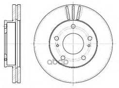 Диск Тормозной Передний! Nissan Serena/Vanette 1.6-2.3d 92 Remsa арт. 6444.10 6444.10_