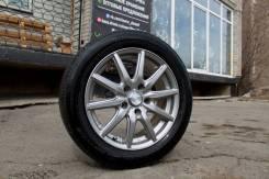 Красивое притемненное литье r16 5х114.3 + лето Bridgestone 205/55 R16