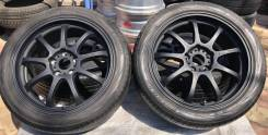 Чёрные матовые Lehrmeister LM Sport R18 на шинах Yokohama 225/45R18