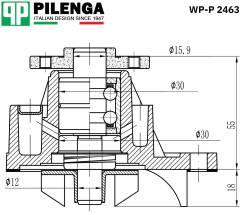 Насос охлаждения ДВС WP-P2463 [WP-P2463] WPP2463
