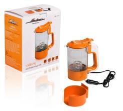 Чайник автомобильный 12В прозрачный/оранжевый пластик автоматическое отключение [ABK-12-03]