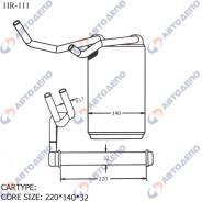 Радиатор отопителя салона Toyota Hilux Surf LN130 87107-89119
