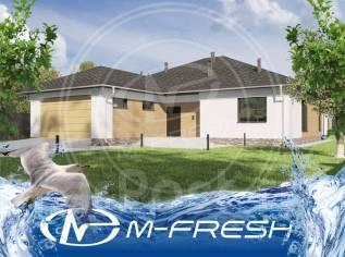 M-fresh Lazurian (Готовый проект одноэтажного дома с большим гаражом! ). 200-300 кв. м., 1 этаж, 4 комнаты, бетон