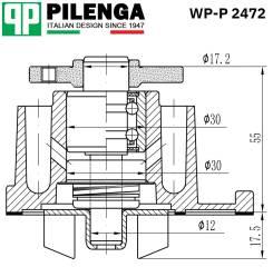Насос охлаждения ДВС WP-P2472 [WP-P2472] WPP2472