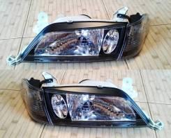 Комплект Фары +габариты Чёрн Хруст Toyota Carina 210 211 215 (98-01г)