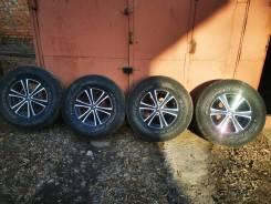 Продам 4 колеса 265/70/16 Dunlop на литых дисках