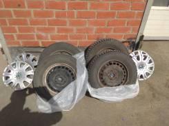 Комплект зимних колёс skoda octavia A5, R15, на штамповках с колпаками