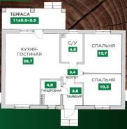 Продам дом. Ул.озерная, р-н пос.Пригородный, площадь дома 80,0кв.м., площадь участка 4кв.м., централизованный водопровод, от застройщика