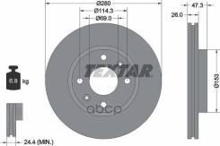 Диск Тормозной Передний [280x26] 4 Отв. Стандартный Вентилируемый Hyundai Elantra (Xd) 1,6-2,0/Crdi 06/00-/Sonata Iv (Eu4) 2,0/2,7 V6 10/01-11/04/Mage...