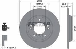 Диск Тормозной Передний! С Покрытием Kia Ceed, Hyundai I30 1.4-2.0/1.6 Crdi 06 Textar арт. 92314403 92314403_ 92314403