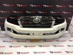 Бампер передний Toyota Land Cruiser 200 08-15 год стиль 2016г Белый