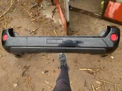 Бампер задний на Nissan x-trail t-30 чёрный, (трещина) под ремонт