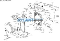 Патрубок верх/низ от радиатора 25412-55201 D6DA AT 2007 Mobis 2541255201 2541255201
