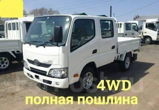 Toyota ToyoAce. 4WD, двухкабинный, бортовой, 3 000куб. см., 1 500кг., 4x4