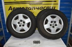 Комплект летних колес 215/70 R15 на дисках 5х114.3 с колпаками + гайки