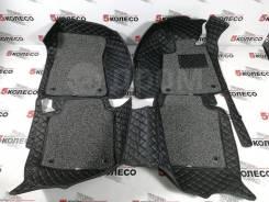 3D ковры в салон правый руль Toyota Crown S210 2012-2018 черные (001)