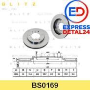 Диск тормозной перед (6r) Blitz BS0169