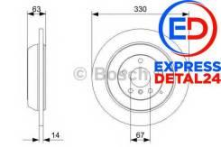 Диск тормозной зад (6r) Bosch 0 986 479 330 0986479330