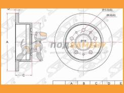 Диск тормозной зад FIAT Ducato 06- Citroen Jumper 06- Peugeot Boxer 06- (R16) SAT / ST424931