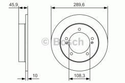 Диск тормозной передний Bosch Suzuki Jimny JB43W JB23W (05-) 0986479B09