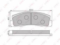 Колодки тормозные дисковые LYNXauto BD-4602 BD4602