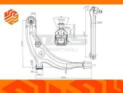 Рычаг подвески JD JDCP609L левый передний