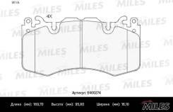 Тормозные колодки передние Miles E400274 E400274