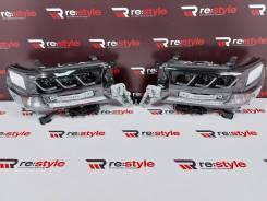 Фары Toyota Land Cruiser 200 с16г Стиль Lexus Темные