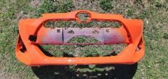 Бампер передний оранжевый на Toyota Aqua NHP10-2278635