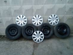 Зимние колеса на штампах Volkswagen Jetta оригинал колпаки