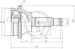 ШРУС внешний ABS HY006A47 JD JCT0120A JCT0120A