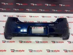 Бампер задний Toyota Vitz (XP90) синий 1 модель с накладками 004418