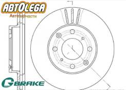Диск тормозной п. G-brake Honda Integra DC1Civic EJ9, EG4, EG8, EJ2, EG, EH GR-02196
