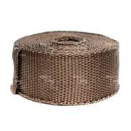 Термолента коричневая базальтовая до 1500 градусов 50мм*10м