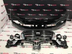 Бампер передний Toyota Land Cruiser 200 2008-2015 Стиль 2016+ Черный