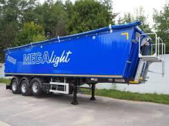 MEGA. Mega Полуприцеп самосвальный алюминиевый 42 m3, 35 000кг.