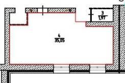 Нежилое помещение 35,05 кв. м. Улица Суворова 40/1, р-н Индустриальный, 35,1кв.м.