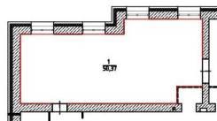 Нежилое помещение 50,37 кв. м. Улица Суворова 40/1, р-н Индустриальный, 50,4кв.м.