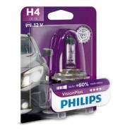 Лампа H4 12V 60/55W P43t-38 (серия VisionPlus) Philips 12342VPB1 12342VPB1