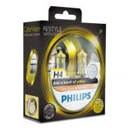 Лампы H4 12V 60/55W (серия ColorVision Yellow) (2шт. в блистере) Philips 12342Cvpys2 12342CVPYS2