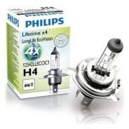 Лампа H4 12V 60/55W P43t-38 (серия LongLife EcoVision) Philips 12342Llecoc1 12342LLECOC1