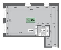 2-комнатная, улица Брянская 18. Чуркин, частное лицо, 53,8кв.м. План квартиры